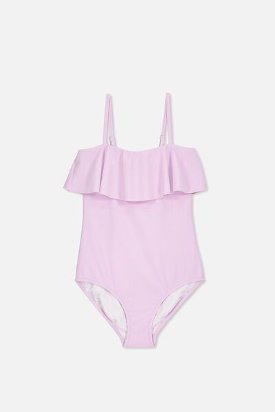 Frill One Piece, WINSOME ORCHID RIB
