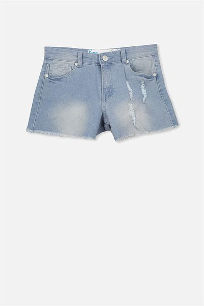 Leni Denim Short, SPRING INDIGO