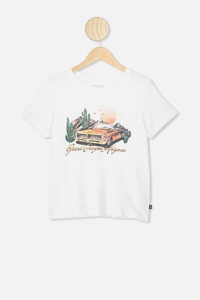 Primrose Classic Tshirt, WHITE/GRAND CANYON
