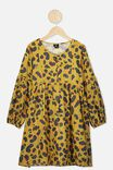 Kip&Co Teen Long Sleeve Dress, LCN KIP/LEOPARD