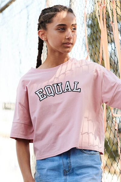 Boxy T-Shirt, DUSTY ROSE/EQUAL