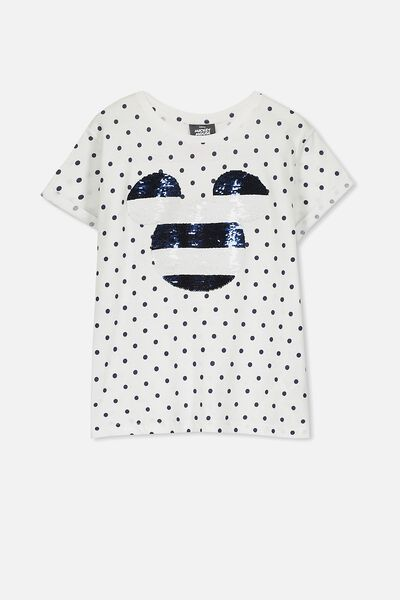 Lucy Licence Tee, WHITE/SPOT/MICKEY STRIPE