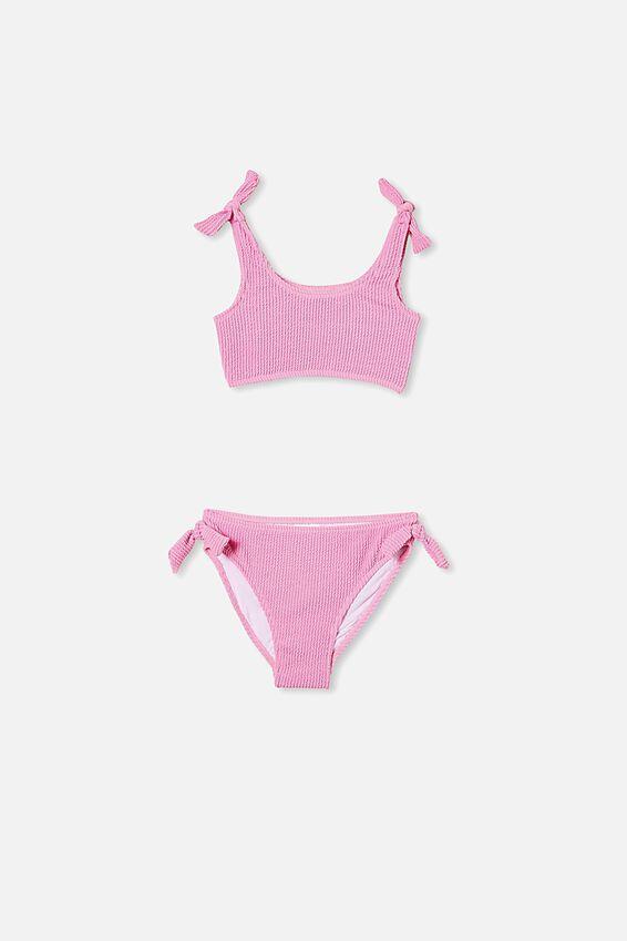 Trinka Rib Tie Bikini, PURPLE PARADISE