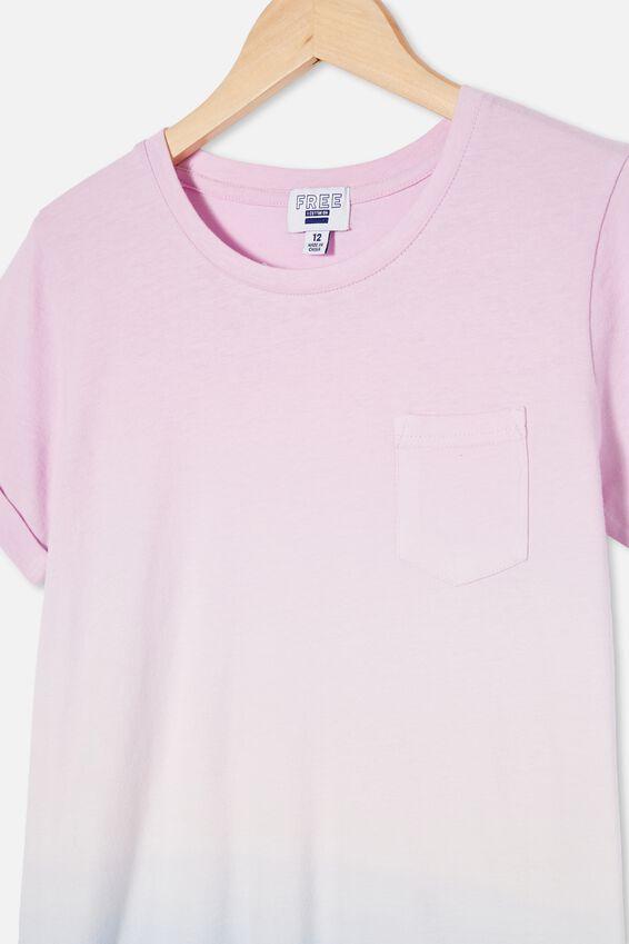 Toni Tshirt Sleeve Dress, PALE VIOLET/DUSK BLUE DIP DYE