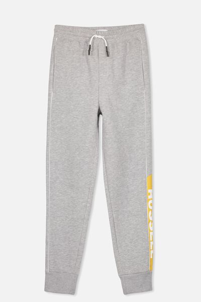 Russell Track Pant, LCN RUS/SIDE PANEL PIPE/GREY MARLE