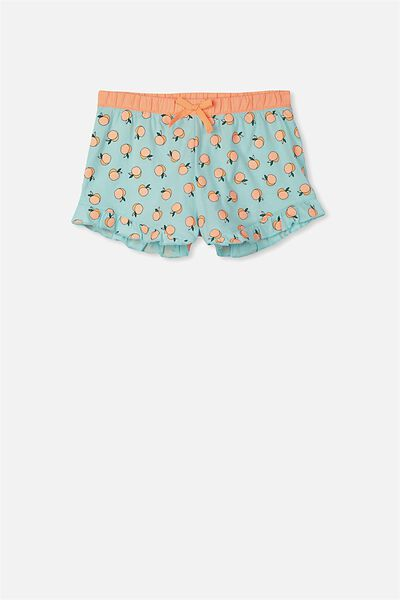 Jelena Frill Sleep Short, AQUA TINT/LOTSA PEACHES