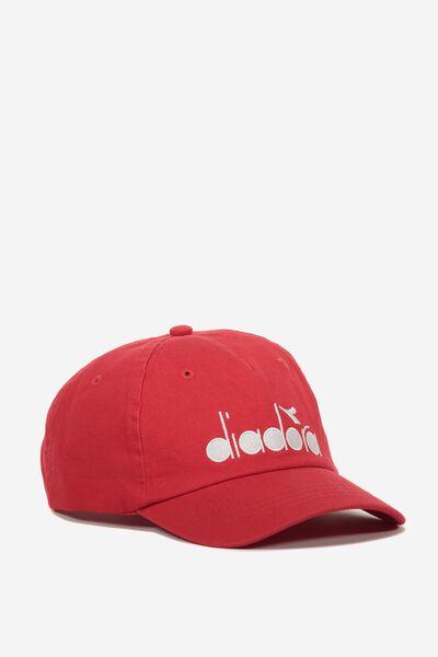 Embroidery Cap, RACING RED/DIADORA