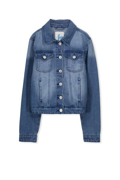 Daisy Denim Jacket, BRIGHT INDIGO