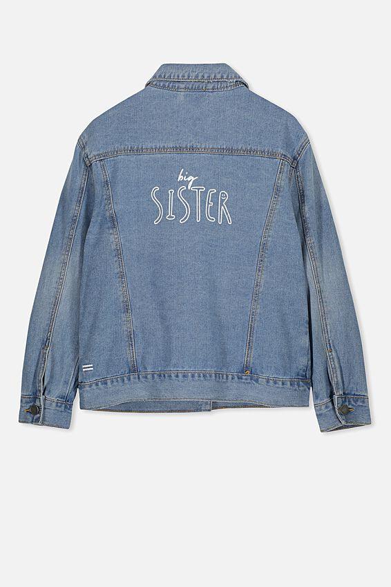 Equal Denim Jacket Personalised, ORIGINAL WASH