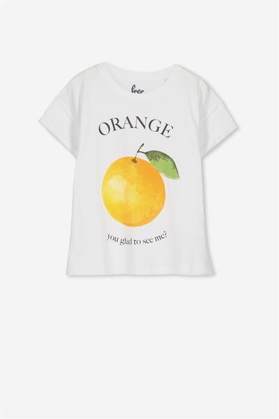 Ellie Tee, WHITE/ORANGE