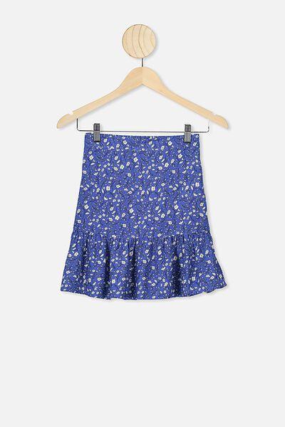 Harper Skirt, VINTAGE ROYAL BLUE/SPRIGGY FLORAL