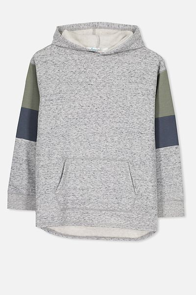 Harry Hoodie, NEP GREY MARLE/COLOUR BLOCK