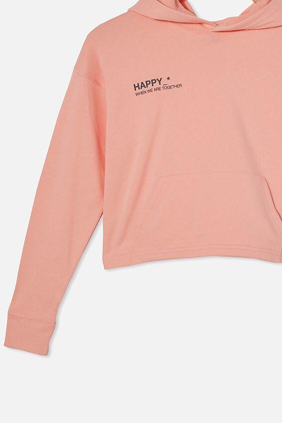 Serena Crop Hoodie, MUSK MELON/ HAPPY
