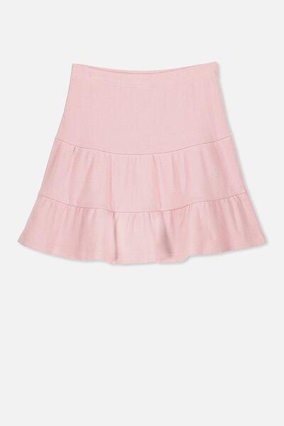 Knit Peplem Skirt, DUSTY ROSE
