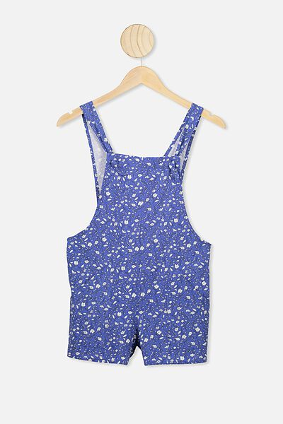 Meg Playsuit, VINTAGE ROYAL BLUE/SPRIGGY FLORAL