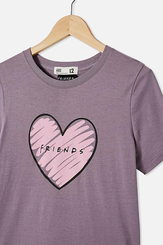 Girls License Classic Ss Tee, LCN WB DUSK PURPLE/FRIENDS HEART