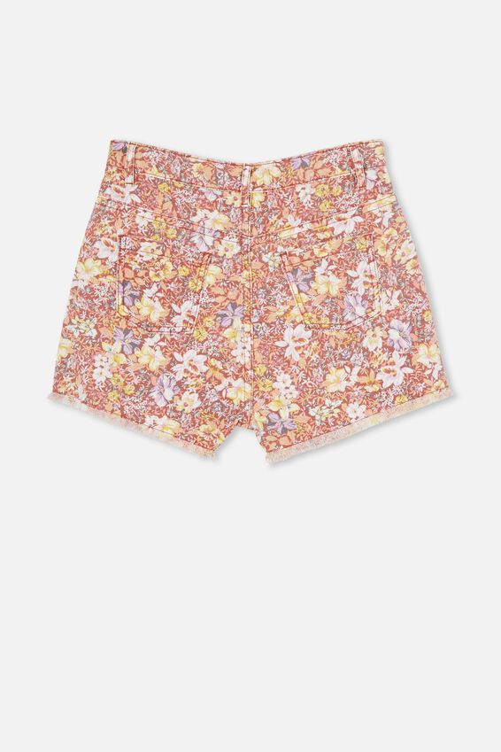 Sully Denim Short, COASTAL FLORAL