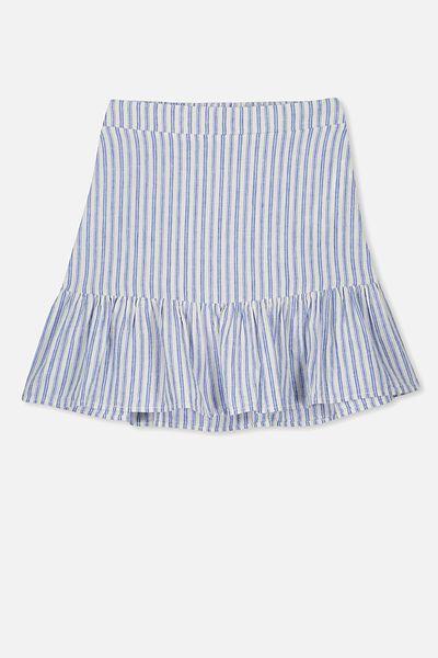 Harper Skirt, BLUE STRIPE