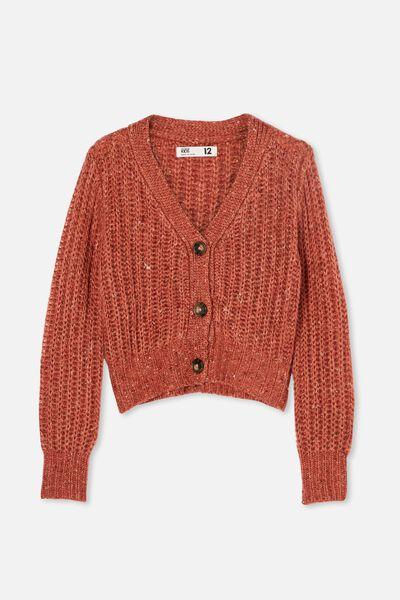 Martha Multi Knit Cardi, CHUTNEY FLECK