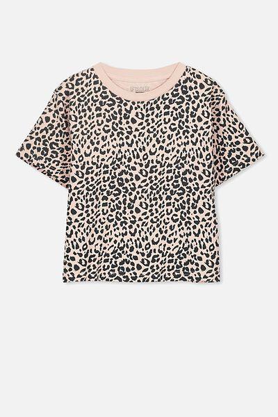 Boxy T-Shirt, LEOPARD PRINT
