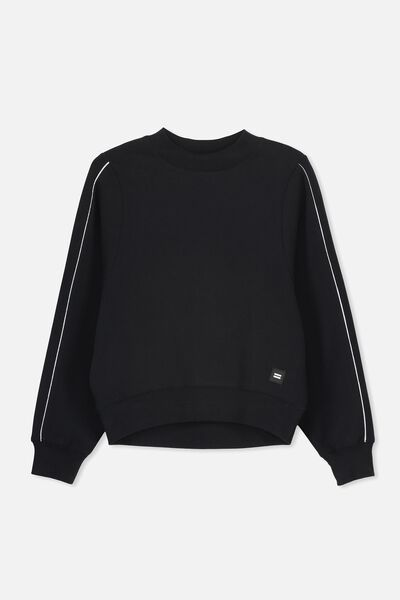High Neck Jumper, BLACK
