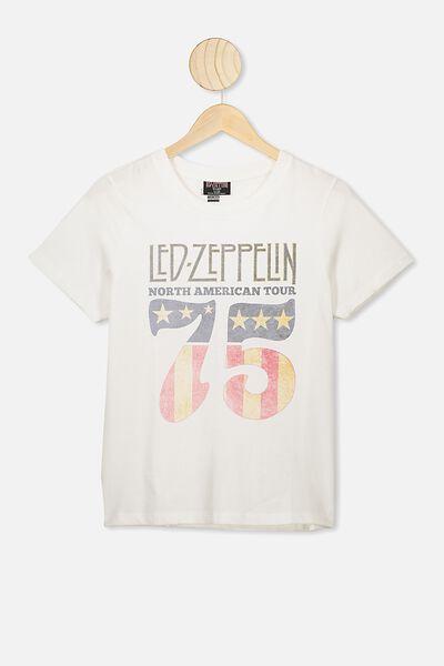 Girls License Classic Ss Tee, LCN LEDZ VANILLA/LED ZEPPELIN 75
