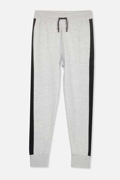 Urban Track Pant, SOFT GREY MARLE/BLACK