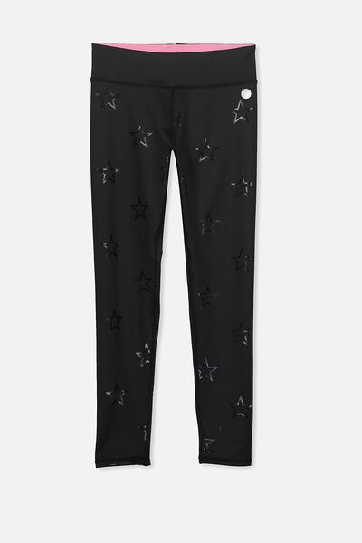Free Active Full Length Legging, BLACK/FOIL STARS