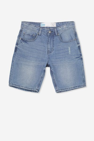Leon Ii Denim Short, ABRADED BLUE