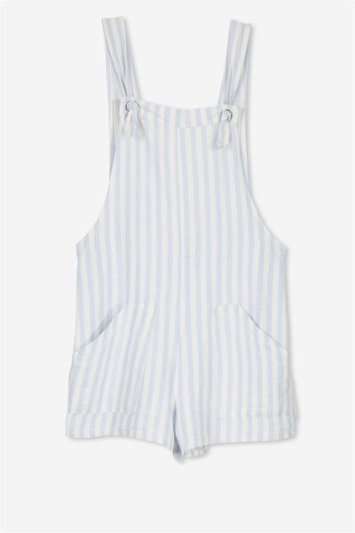 Megan Playsuit, BUTTERFLY BLUE/WHITE STRIPE