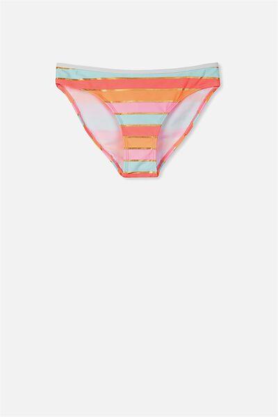 Leah Bikini Bottom, CHEVRON STRIPE