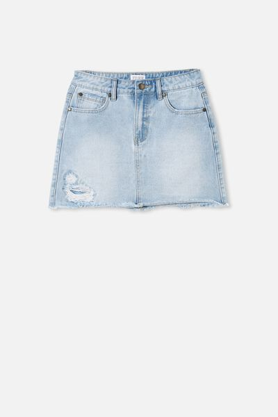 Florence Denim Skirt, BLEACH WASH