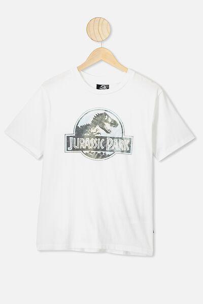 Ash Boys License Tees, LCN UNI WHITE/JURASSIC PARK