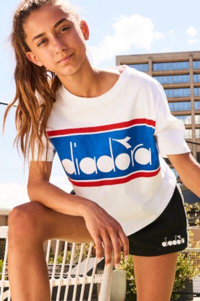 Diadora Girls Tape Short, BLACK/DIADORA TAPE