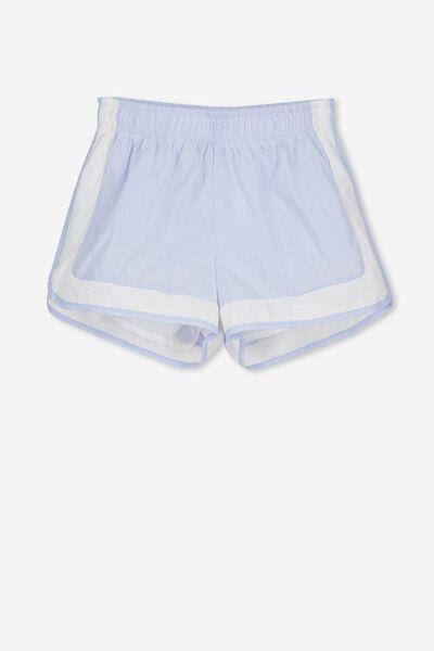 Jogger Short, TOPAZ BLUE/WHITE