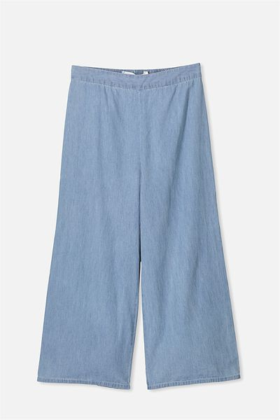 Holly Culotte Pant, CHAMBRAY