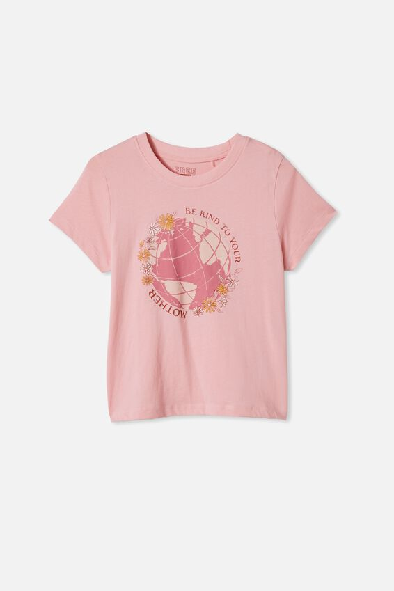 Girls Classic Ss Tee, MARSHMALLOW/MOTHER EARTH