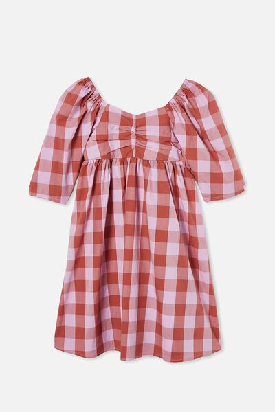 Juniper Short Sleeve Dress, CHUTNEY GINGHAM