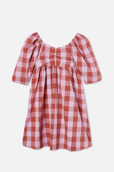 Juniper Short Sleeve Dress, CHUTNEY GINGHAM
