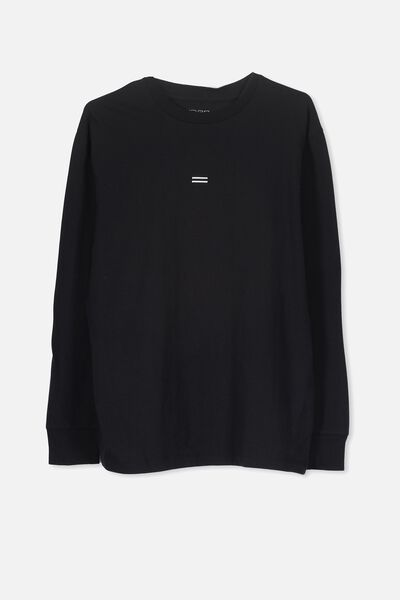 Equal Long Sleeve Tee, BLACK