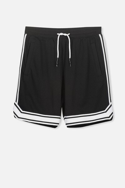 Basketball Short, BLACK/WHITE TAPE
