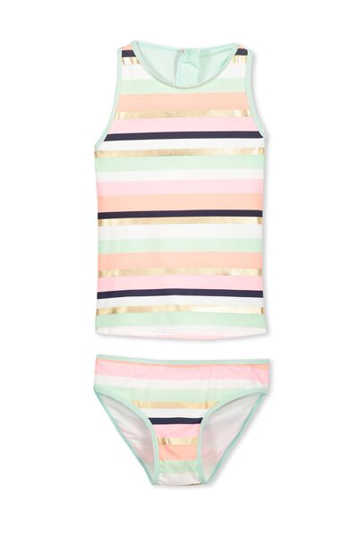 Beth Tankini, TROPICAL STRIPES