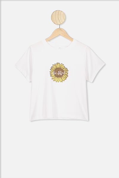 Lulu Short Sleeve Tshirt, WHITE/BE KIND