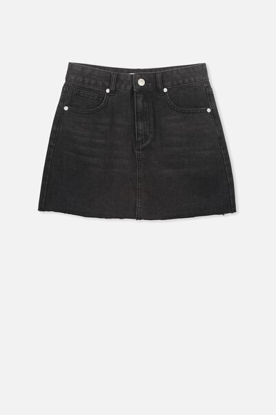 90S Denim Skirt, SHADOW