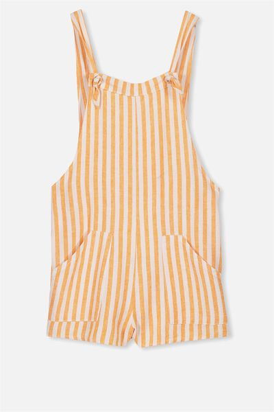 Megan Playsuit, ORANGE/WHITE STRIPE