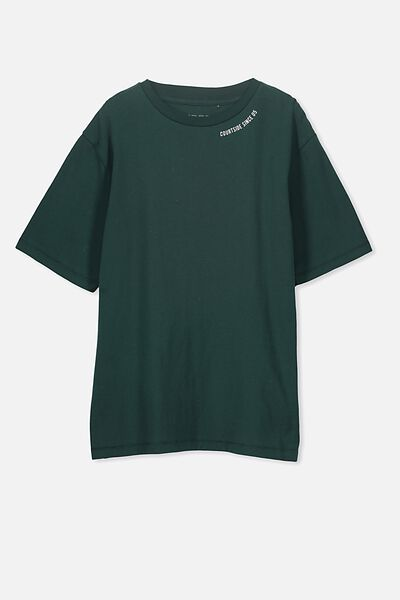 Oversized Tee, RICH GREEN/COURTSIDE