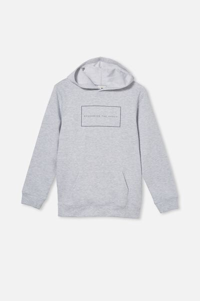 Street Hoodie, WHITE MARLE/NEVERMIND THE CHAOS