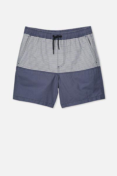 Swim Short, NAVY PANEL/STRIPE