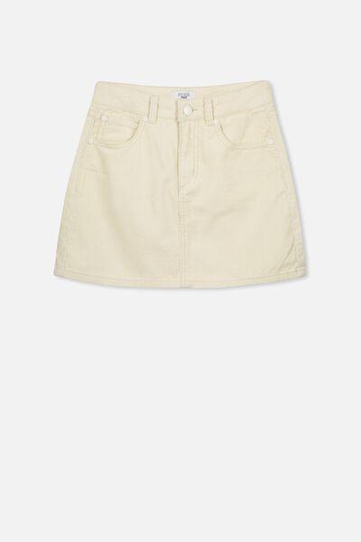 Cord Skirt, VANILLA