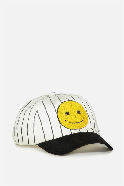 Licensed Baseball Cap, EMOJI STRIPE
